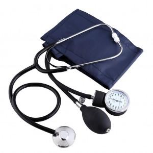 Aneroid Adult Blood Pressure Monitor Meter Sphygmomanometer Set with Bag