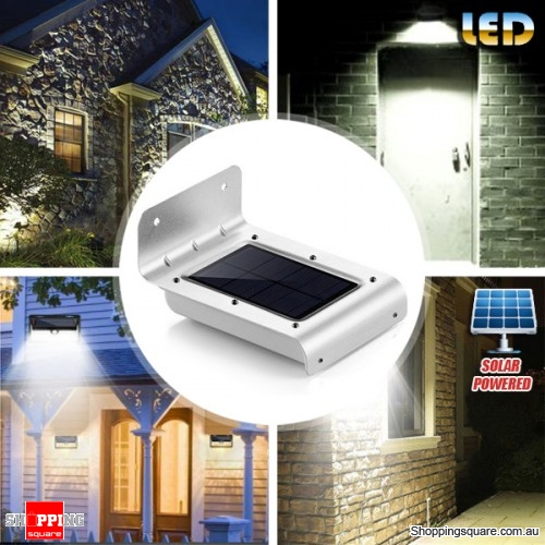 Solar-Powered LED Motion Sensor Wall Lamp for Outdoor