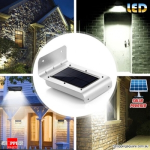 Solar-Powered Motion Sensor LED Wall Lamp for Outdoor
