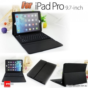 PU Leather Wireless Bluetooth Keyboard Case Stand Cover for Apple iPad Pro 9.7 Inch Black Colour