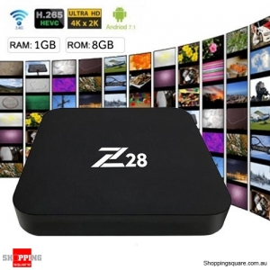 Z28 4K TV Box Android 7.1 RK3328 Media Player H.265 WiFi USB 3.0 1GB RAM 8GB ROM