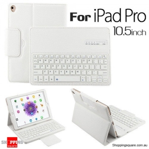 Bluetooth Flip Leather Case Cover with Removable Keyboard for iPad Pro 10.5 inch White Colour