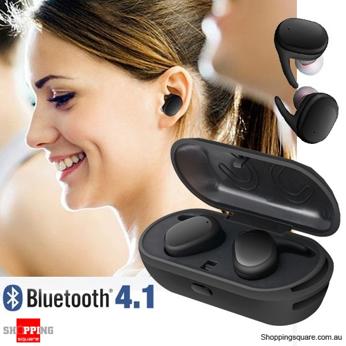 Mini Stereo Bluetooth Dual Earphones With Charging Box