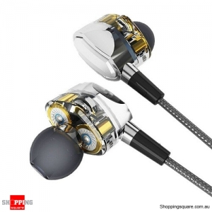 S Wear G2 Dual Dynamic Drivers In-ear 3.5mm Wired Control Earphones Headphone with Mic