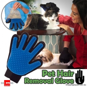 Magic Glove Brush for Dog Pet Cat Hair Fur Removal Cleaning Massage Grooming Groomer - Left Hand