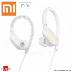Xiaomi Mini Version Sport IPX4 Waterproof Earhooks Bluetooth V4.1 Earphone With Mic White Colour