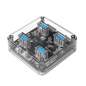 ORICO MH4U-U3 Transparent 4 Port USB 3.0 Hub for PC Mac