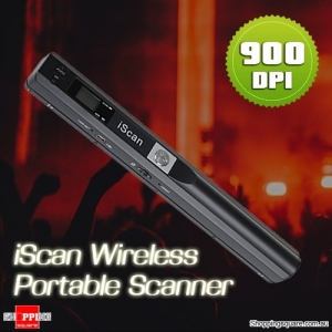 iScan 900DPI Wireless HD Portable Hand Held Mini Scanner Supports MicroSD