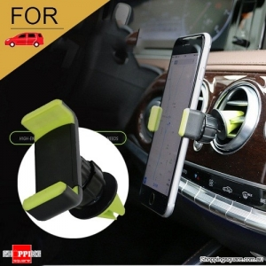 Air Vent Car Phone Holder for iPhone 6 6S Plus 7 5S SE Android Samsung Green Colour