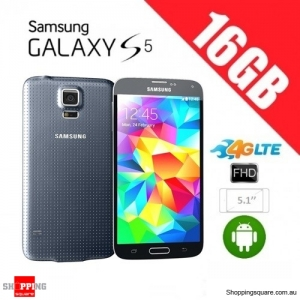 Samsung Galaxy S5 G900F 4G 16GB Unlocked Smart Phone Black