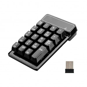 19-Key 2.4GHz Wireless Numeric Keypad Keyboard Number Pad