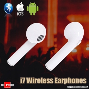 HBQ I7 Wireless Bluetooth TWS Twins True Mini Stereo Earphones Headset for iPhone Android White Colour
