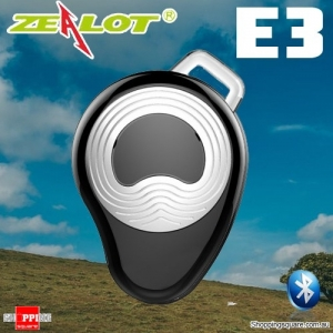 ZEALOT E3 Multi-point Sports Wireless Bluetooth Micro Headset Earpiece Earphone w Mic Hands Free Silver Colour