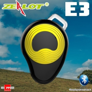 ZEALOT E3 Multi-point Sports Wireless Bluetooth Micro Headset Earpiece Earphone w Mic Hands Free Gold Colour