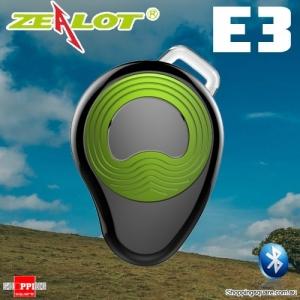ZEALOT E3 Multi-point Sports Wireless Bluetooth Micro Headset Earpiece Earphone w Mic Hands Free Green Colour