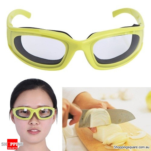 Kitchen Anti-spicy Onion Cutting Goggles Protective Glasses Eye Protector Tool Green Colour