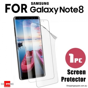 Clear Transparent Soft Screen Protector Cover for Samsung Galaxy Note 8