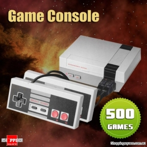Classic Vintage 8-bit TV Game Console with 500 Preloaded Games