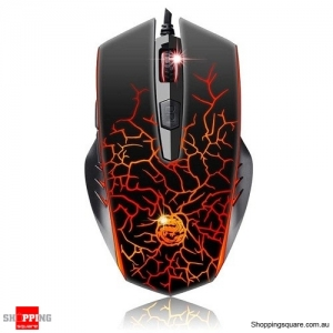 WFIRST X700-M Wired USB Gaming Optical Mouse 2400DPI Changeable with Light Controler for DOTA LOL