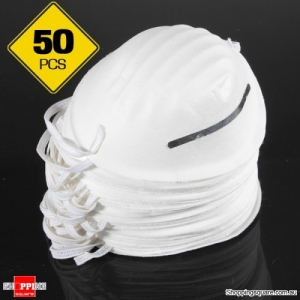 50Pcs of Disposable Dust Face Mouth Mask Respirator for Clean Safety