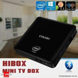 CHUWI HiBox Mini Desktop PC TV Box with Windows 10+Android 5.1 Intel X5 4GB/64GB Supported HDMI