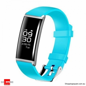 "X9 0.96"" OLED Smart Wristband with Blood Pressure Oxygen Heart Rate Sleep Monitor for iPhone Samsung Blue Colour"