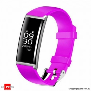 "X9 0.96"" OLED Smart Wristband with Blood Pressure Oxygen Heart Rate Sleep Monitor for iPhone Samsung Red Colour"