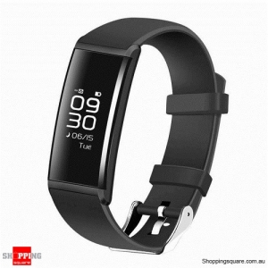 "X9 0.96"" OLED Smart Wristband with Blood Pressure Oxygen Heart Rate Sleep Monitor for iPhone Samsung Black Colour"