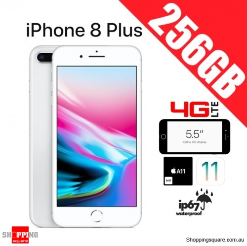 Apple iPhone 8 Plus 256GB 4G LTE Unlocked Smart Phone Silver
