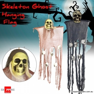 House Decoration Hanging Skeleton Ghosts Flag Scary Scene Props for Halloween Party