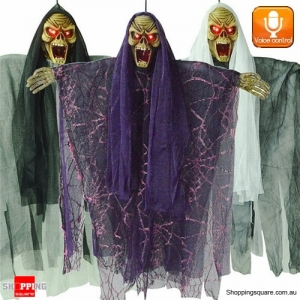 Halloween Voice Control Hanging Ghosts Zombie Decoration Props Décor for Haunted House