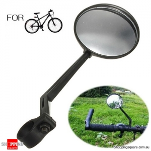 Bicycle Bike Handlebar Mount Back View Rearview Convex Mirror for Cycling Safety