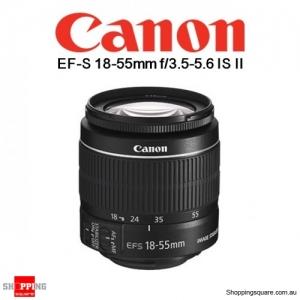 Canon EF-S 18-55mm f/3.5-5.6 IS II DSLR Digital Camera Lens Black