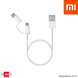 1M Xiaomi 2 in 1 Type-C Micro USB Data Charging Cable for Samsung LG Xiaomi