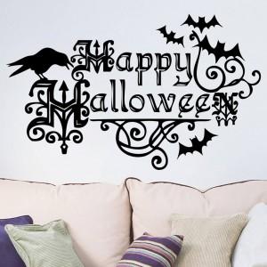 Happy Halloween Waterproof Wall Art Sticker Decor