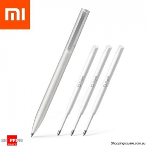 Xiaomi Mijia Metal Rollerball Sign Pen with 3 Refills - Silver Colour