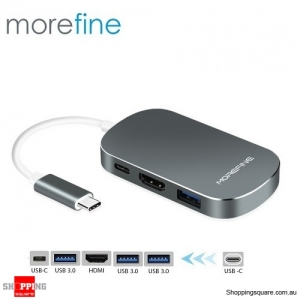 MOREFINE MHUB Ace 1 Type C to Type C+USB3.0+HDMI Docking Adapter - Gray Colour