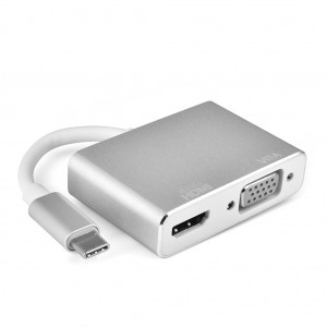 Type-C to HDMI & VGA Converter Supports 4K for Macbook