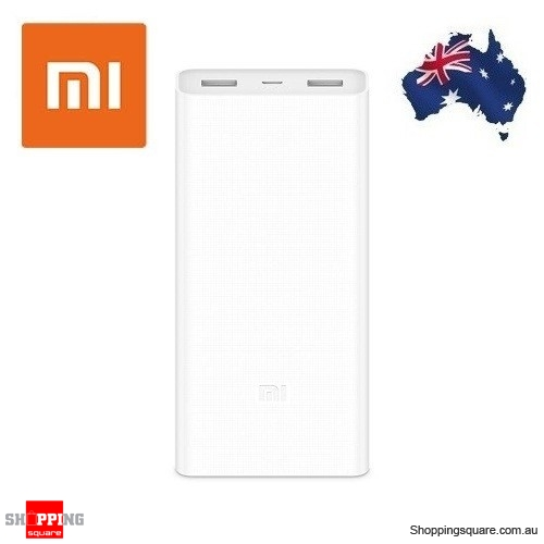 Latest Xiaomi 2C 20000mAh Polymer Power Bank 2 Dual USB Output with Quick Charge 3.0 White Colour - Damaged in Transit Unit