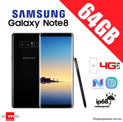 Samsung Galaxy Note 8 64GB N9500 Dual Sim 4G LTE Unlocked Smart Phone Midnight Black