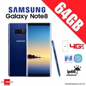 Samsung Galaxy Note 8 64GB Dual Sim 4G LTE Unlocked Smart Phone Deepsea Blue