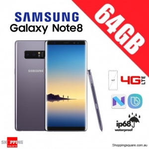 Samsung Galaxy Note 8 64GB Dual Sim 4G LTE Unlocked Smart Phone Orchid Gray