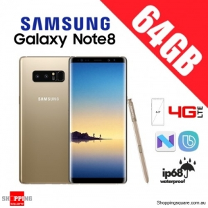 Samsung Galaxy Note 8 64GB N950FD Dual Sim 4G LTE Unlocked Smart Phone Maple Gold