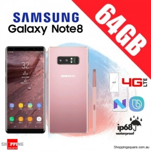 Samsung Galaxy Note 8 64GB Dual Sim 4G LTE Unlocked Smart Phone Blossom Pink