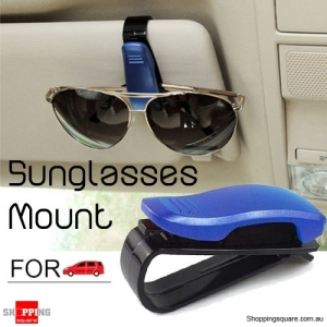 Portable Sunglasses Card Clip Holder for Car Auto Vehicle Accessories - Blue Colour