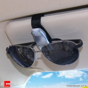 Portable Sunglasses Card Clip Holder for Car Auto Vehicle Accessories - Silver Colour