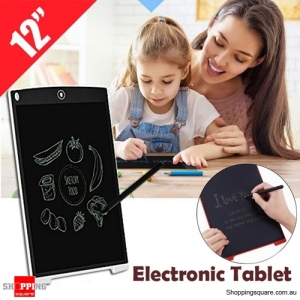 12 Inch LCD Digital Electronic Paperless Tablet Pad Board for Drawing Writing Graphics White Colour