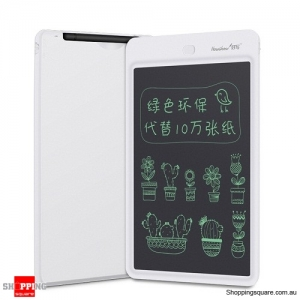 "Howshow 10"" E-Note Paperless LCD Writing Tablet Drawing Board White Colour"