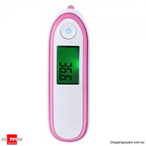 Safety Digital Body Forehead Infrared Non-Contact Thermometer for Baby Adult Pink Colour