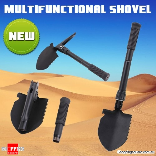 Multi-Functional Mini Folding Shovel Spade Saw Trowel for Camping Survival Pick